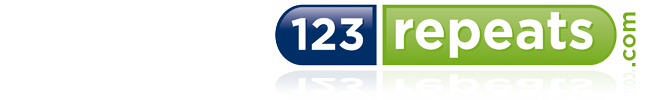 123 Repeats Logo